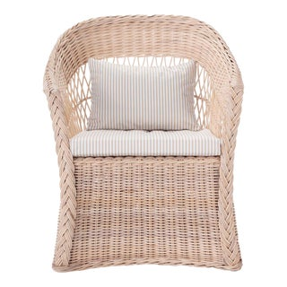 Worth Chair W/ Khaki Stripe Cushion For Sale