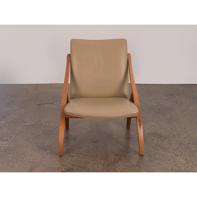 Contemporary Swedish Armless Sculpted Lounge Chair For Sale - Image 3 of 10