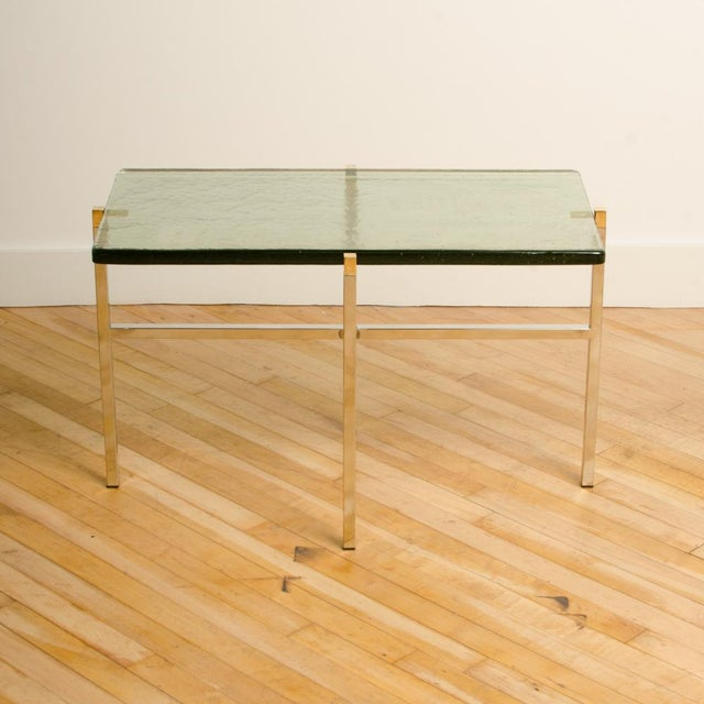 1960s Italian Mid-Century Smoky Glass Top End Tables - a Pair For Sale - Image 5 of 13