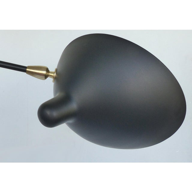 Contemporary Serge Mouille Style Three Arm Floor Lamp With European Electrical Plug For Sale - Image 3 of 10