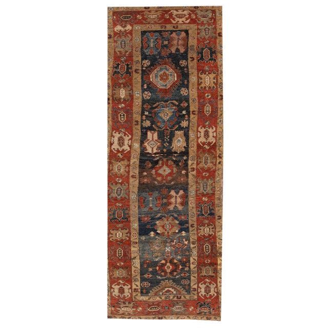 "Vintage Persian Tribal Bakshaish Rug, 3'11"" X 10'3"". For Sale"