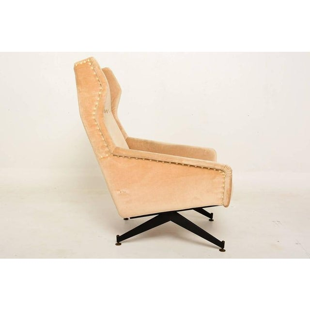 Mid-Century Modern Pair of Sculptural Italian Armchairs For Sale - Image 3 of 10