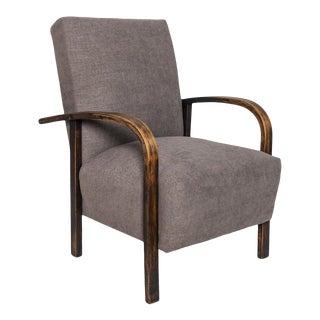 1930s Czech Modernist Reclining Armchair For Sale