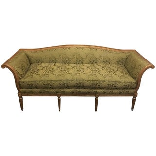 Louis XVI Style Distressed Gilt Sofa For Sale