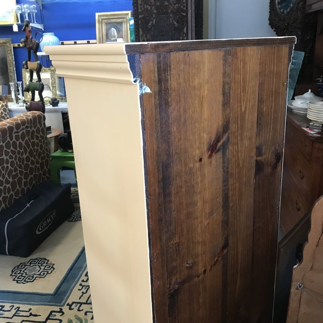 Country Country Yellow Pine Cupboard For Sale - Image 3 of 6