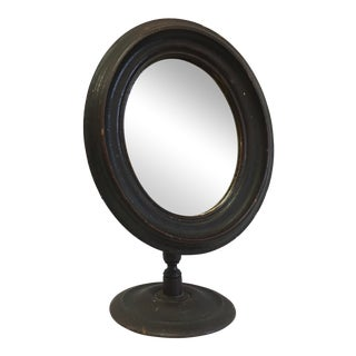 Vintage Mirror in Wooden Frame on Stand