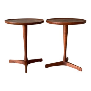 1960s Mid-Century Modern Hans Andersen Teak Side Tables - a Pair For Sale