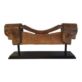 Rustic Ox Wooden Yoke Mounted For Sale