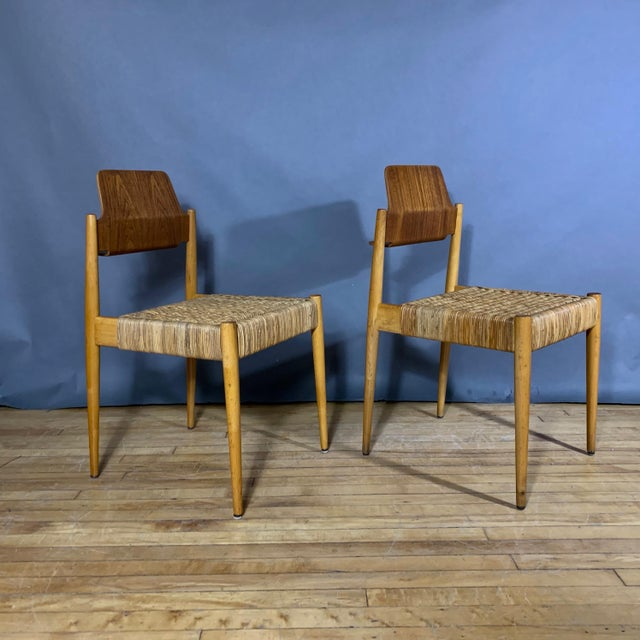 1950s 1950s Egon Eiermann Church Chairs- Set of 4 For Sale - Image 5 of 13