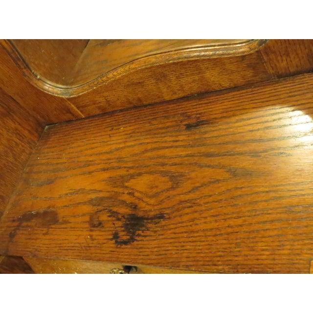 Oak Secretary Curio Cabinet For Sale - Image 4 of 11