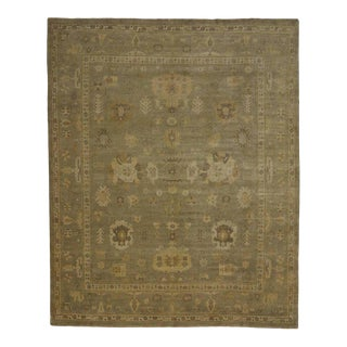 Contemporary Oushak Style Rug with Warm, Neutral Colors For Sale