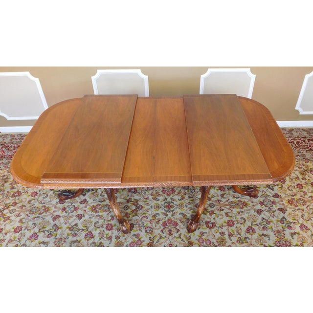 Chippendale Mahogany Banded Dining Room Table - Image 7 of 9
