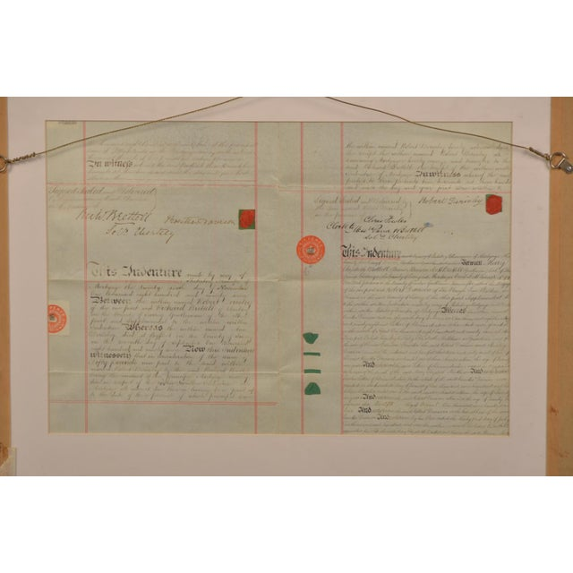 Contemporary Early 19th Century English Double Sided Indenture Document For Sale - Image 3 of 4