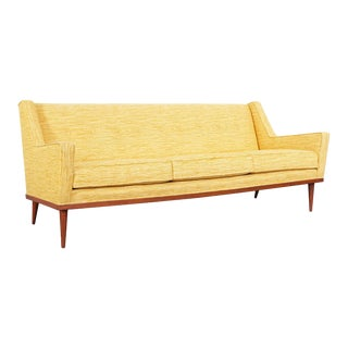 1950s Milo Baughman Walnut Sofa by James Inc For Sale