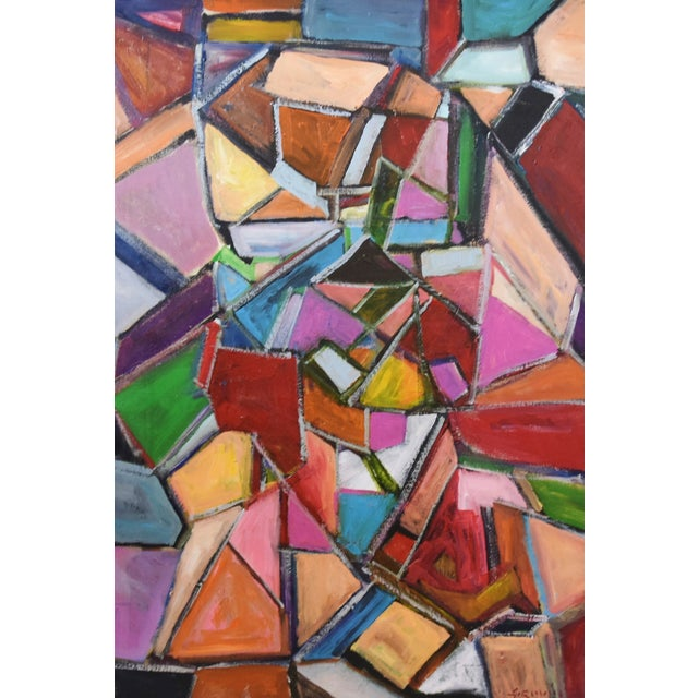 Juan Pepe Guzman Colorful Abstract Oil Painting For Sale In Los Angeles - Image 6 of 9