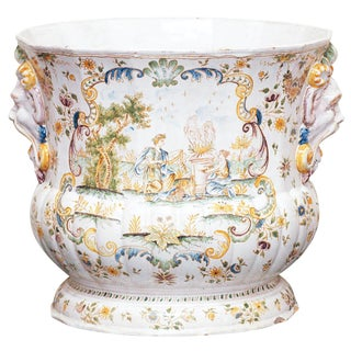 A Large Faience Jardiniere signed Moustiers For Sale