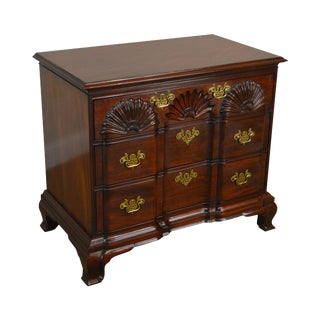 Kindel Townsend Goddard Chippendale Style Mahogany Block Front Chest For Sale