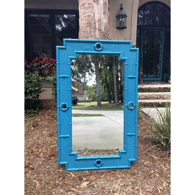 Vintage Faux Bamboo Mirror For Sale In Savannah - Image 6 of 11