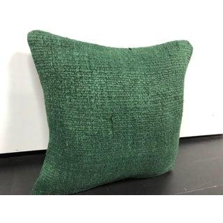 Turkish Green Handmade Organic Hemp Sofa Pillow Preview