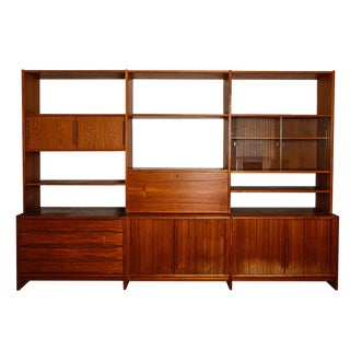 Mid Century Danish Teak Wall Unit/ Room Divider by Johannes Aasbjerg For Sale