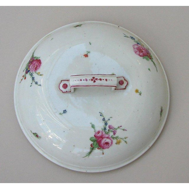 French Pair of Rare Louis XVI Porcelain Covered Dishes For Sale - Image 3 of 5