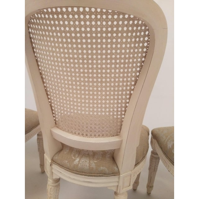 White French Cane Back Chairs - Set of 3 For Sale - Image 9 of 9