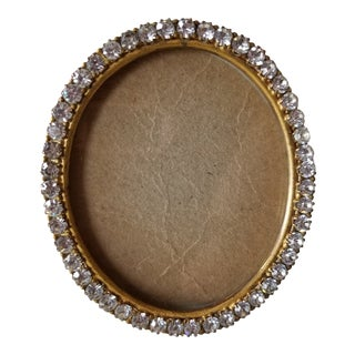 Antique 14k Gold Plated French Paste Frame For Sale