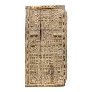 Superb Semi-Oxidized Antique Senufo Door For Sale