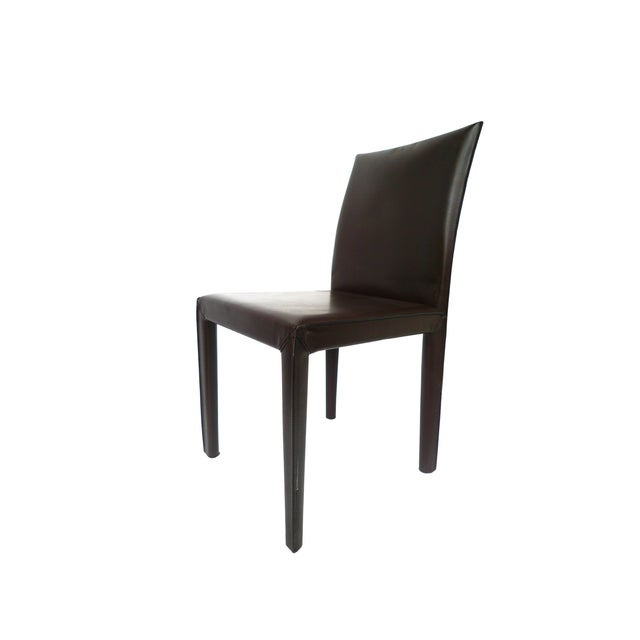 Bellini-Style Leather Side Chairs - A Pair - Image 3 of 9