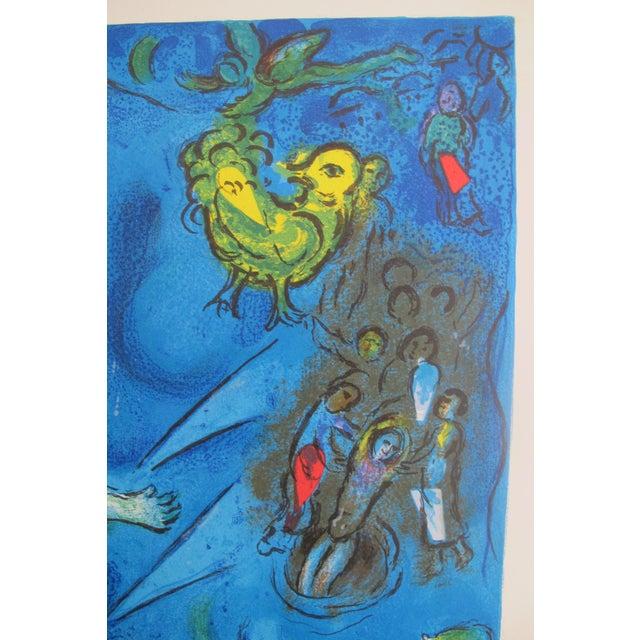 Original 1967 Poster Marc Chagall Le Message Biblique (Blue) For Sale - Image 5 of 5