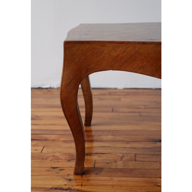 1950s Vintage Italian Walnut Cocktail Table For Sale - Image 4 of 7