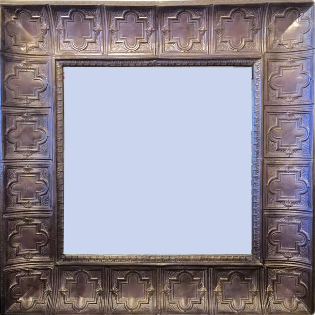 Custom Made Purple Ceiling Tiled Mirror 6' X 6' - Image 1 of 3