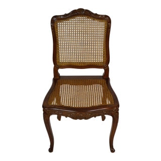 Vintage French Provincial Cane Dining Chair For Sale