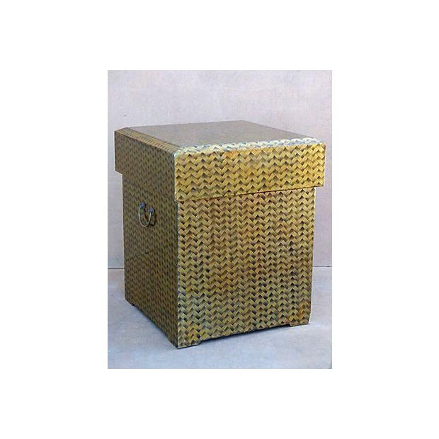 Gold Lacquered Covered Trunk - Image 2 of 11