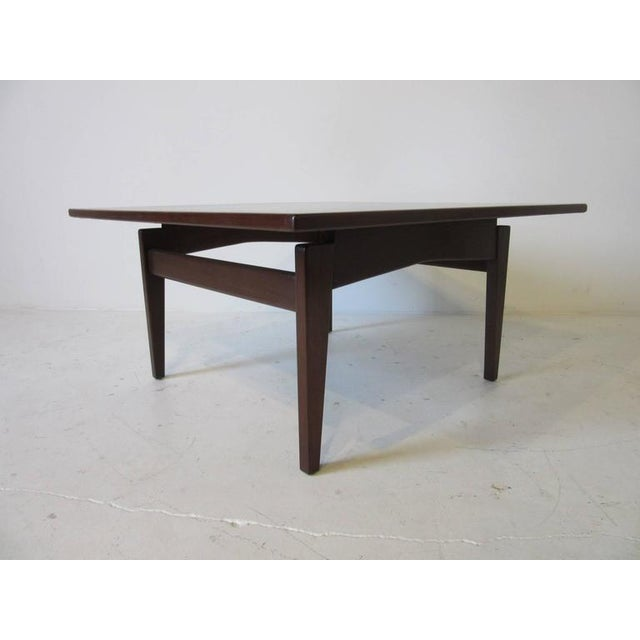 Walnut Jens Risom Walnut Coffee Table For Sale - Image 7 of 7