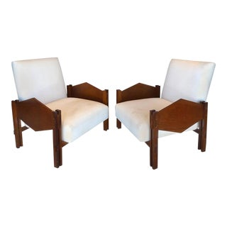 "Jacaranda ""Geometric"" Armchairs by Jose Zanine Caldas Brazil - A Pair For Sale"