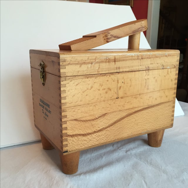 Esquire Shoe Valet DeLuxe Wooden Box - Image 5 of 11
