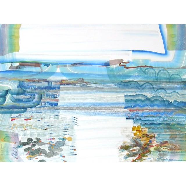 "Early 21st Century Josette Urso ""Salt Sea"" Painting, 2018 For Sale - Image 5 of 5"