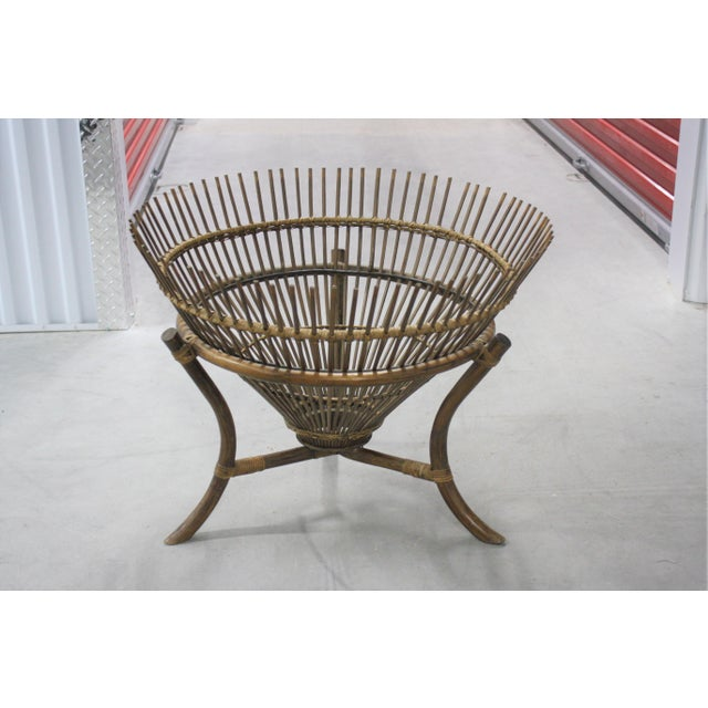 Vintage Franco Albini Style Fish Trap Side Table For Sale - Image 13 of 13