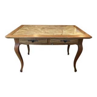 19th Century Queen Anne Oak Writing Desk For Sale