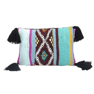 Vintage Moroccan Kilim Wool Throw Pillow
