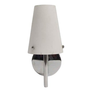 Modern Glass & Chrome Plated Wall Sconce For Sale