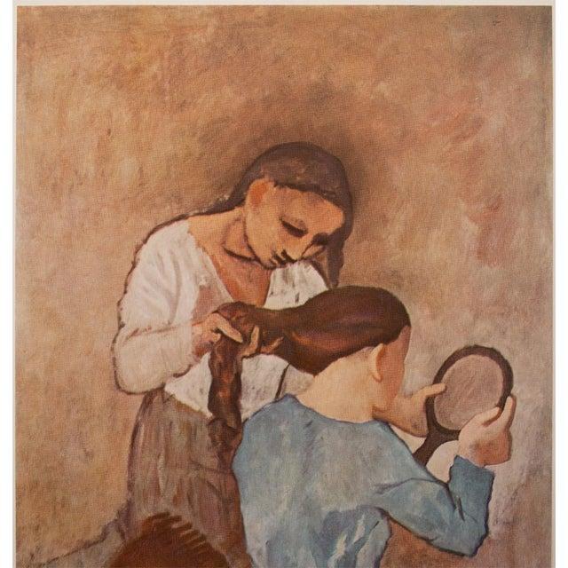 "Impressionism 1950s Picasso ""La Coiffure"" Original Period Lithograph For Sale - Image 3 of 10"