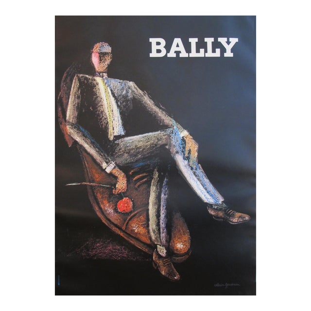 1970s Vintage French Mens Fashion Poster, Bally Shoes - Image 1 of 5