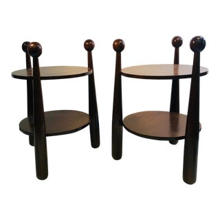 Baseball Side Tables After Jean Royere - a Pair For Sale