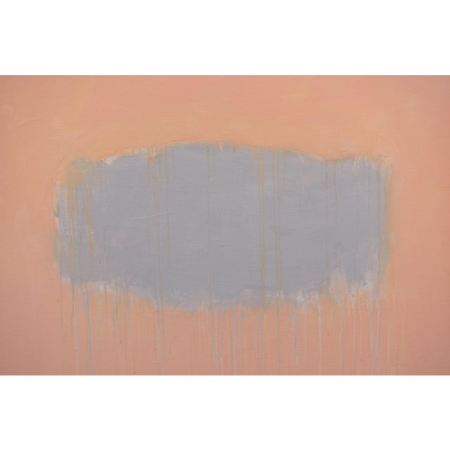 """""""Peachy"""" Large Contemporary Abstract Triptych Painting by Stephen Remick For Sale - Image 10 of 12"""
