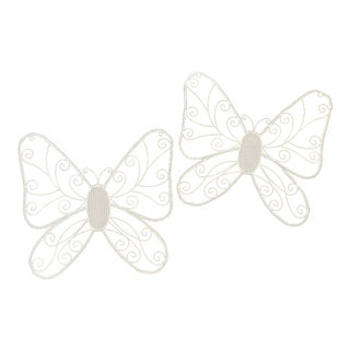 Butterfly Wall Decor - a Pair For Sale