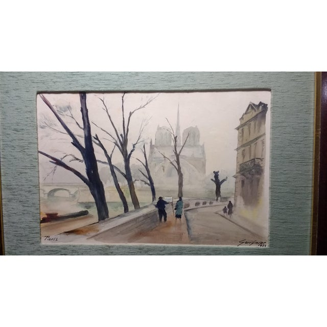 Paris Watercolor by Fernand Guignier, 1953 - Image 3 of 7