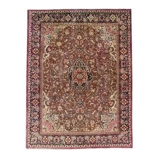 Vintage Mid-Century Persian Mahal Herati Rug - 10′2″ × 13′6″ For Sale
