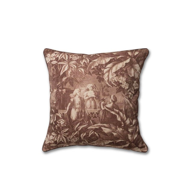 English English Traditional Harem Scenes Print Pillow For Sale - Image 3 of 3